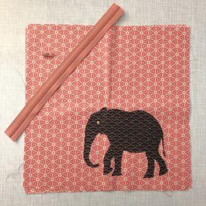 Kissenbezug mit Elefant