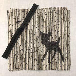 Nähset Reh im Birkenwald