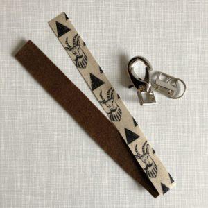 Nähset Schlüsselband Gazelle mit Bart