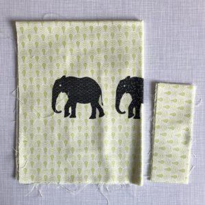 DIY Stoffbeutel Nähset Elefanten