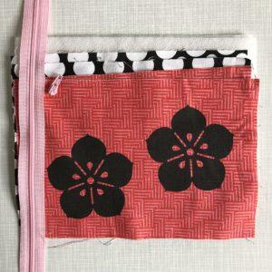 Nähset Sakura Zipper-Bag Reißverschlusstäschchen