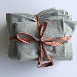 Nähpaket Sweatshirtstoff grau