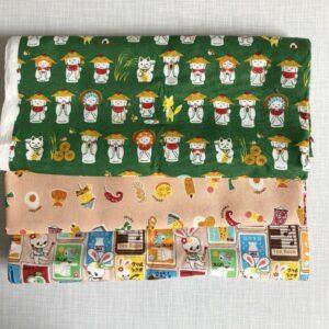 süßes Set japanische Stoffe