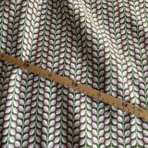 kokka Canvas mit Blättern